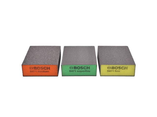 Kit 3 Esponjas Bosch Best Flat&Edge (M/F/SF)