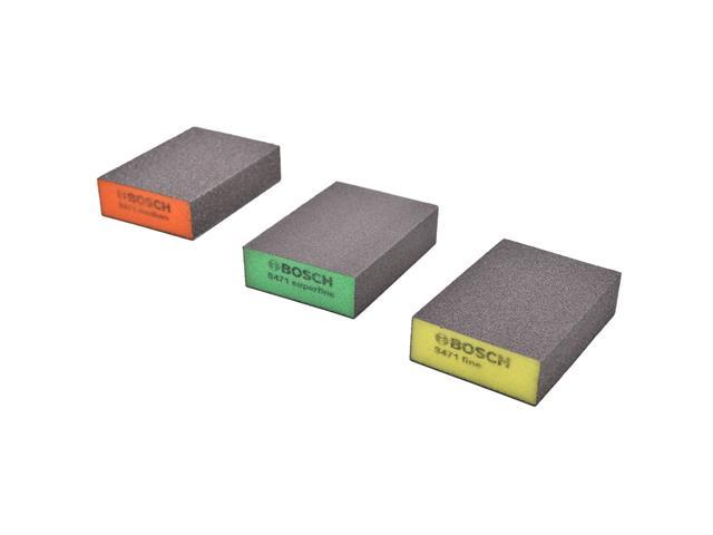Kit 3 Esponjas Bosch Best Flat&Edge (M/F/SF) - 2