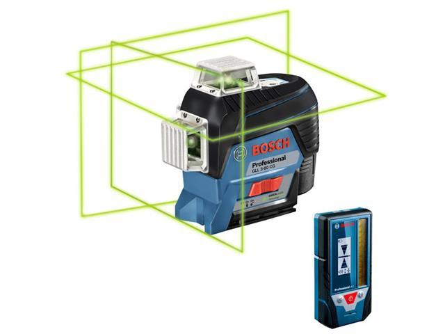 Nível à Laser Bosch GLL 3-80CG 360°com Receptor de Alcance 30 Metros