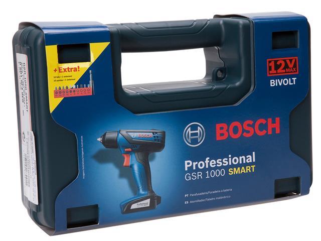 """Parafusadeira e Furadeira Bosch 1/4"""" 12V GSR1000 Smart Bivolt - 7"""