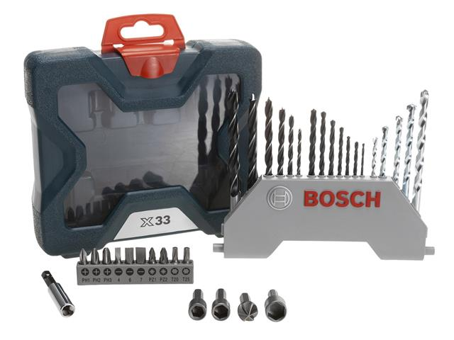 Mala de Acessórios Bosch X-Line com 33 Unidades