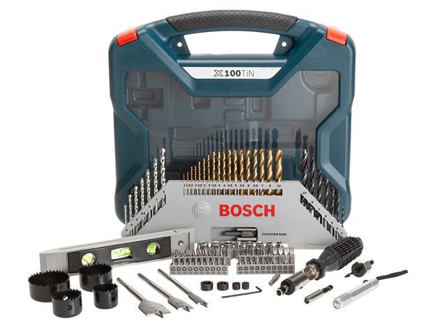 Conjunto de Ferramentas Bosch X-Line Titânio 100 Peças