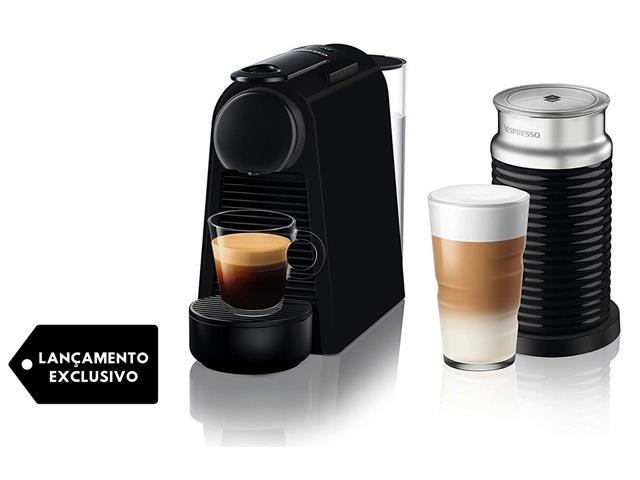 Combo Cafeteira Nespresso Essenza Mini Matt Black + Aeroccino 3 220V - 1
