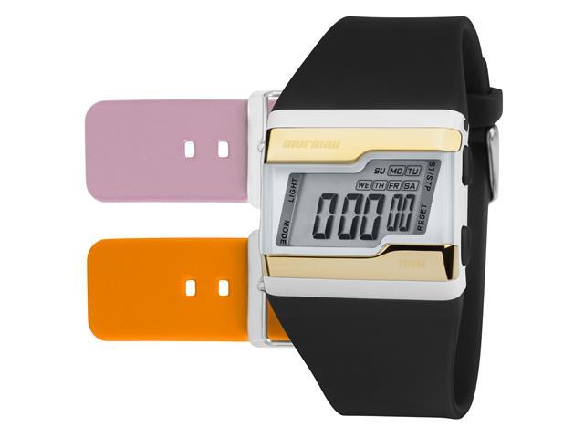 Relógio Mormaii Unissex FZW/T8E Dourado Digital Troca Pulseira