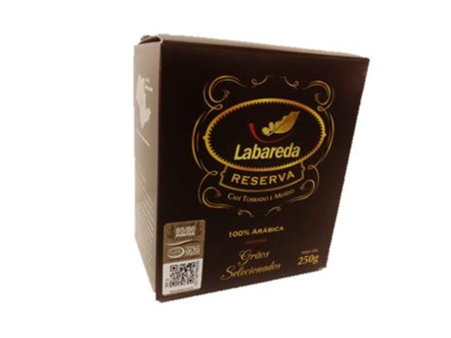 Café Labareda Reserva Torrado e Moído 250g(combo c/ 12 unid.)
