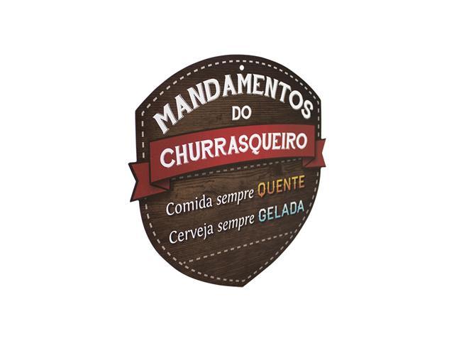 Placa Kathavento Mandamentos do Churrasqueiro Cerveja - 1