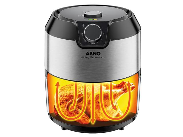 Fritadeira Elétrica sem Óleo Arno Air Fry Super Inox 1400W - 2