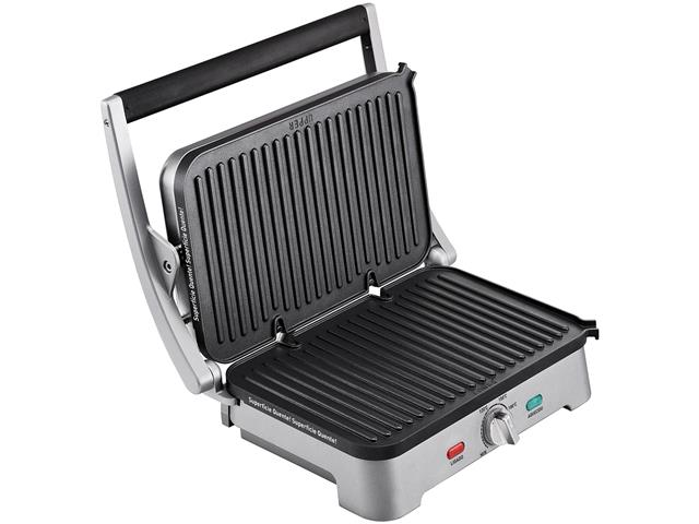 Grill e Sanduicheira Arno Destacável Premium Inox 1200W - 1