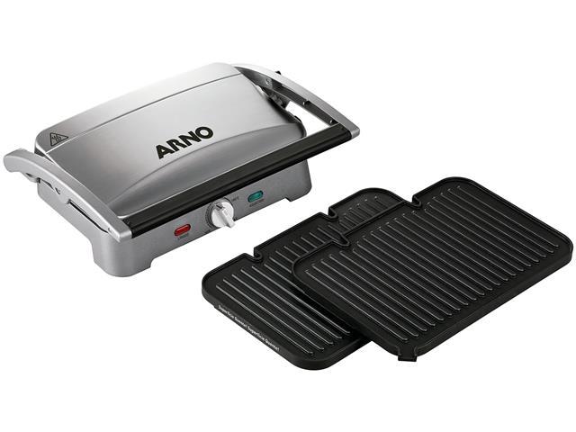 Grill e Sanduicheira Arno Destacável Premium Inox 1200W - 4