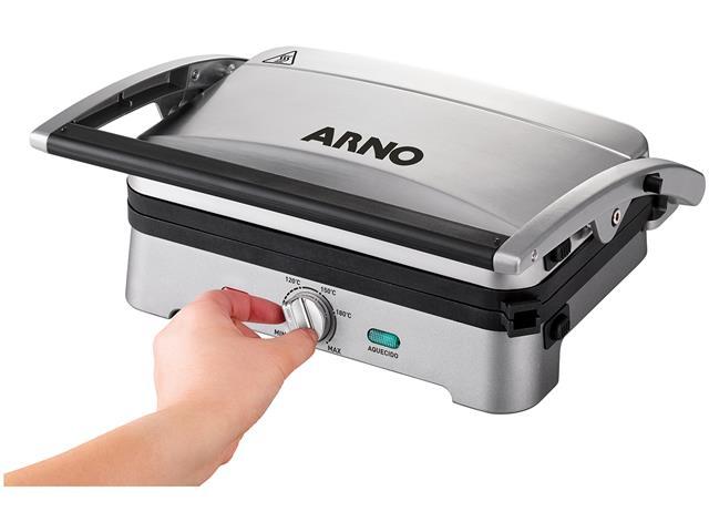 Grill e Sanduicheira Arno Destacável Premium Inox 1200W - 7