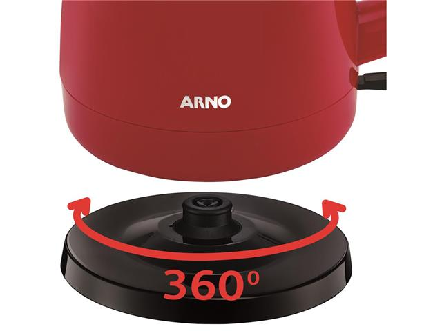 Chaleira Elétrica Arno Uno Vermelha 1,5 Litros - 4