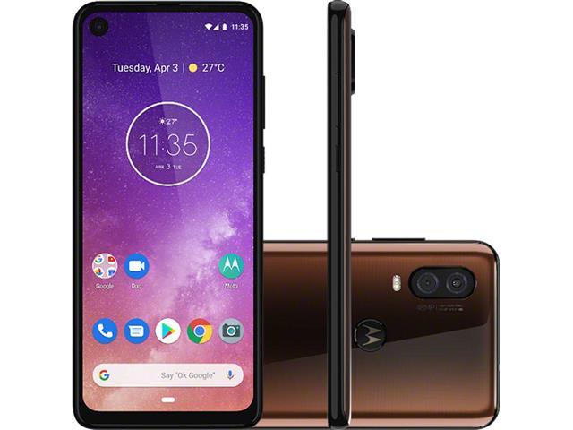 """Smartphone Motorola One Vision 128GB Duos 6.3"""" 4G Câmera 48+5MP Bronze"""