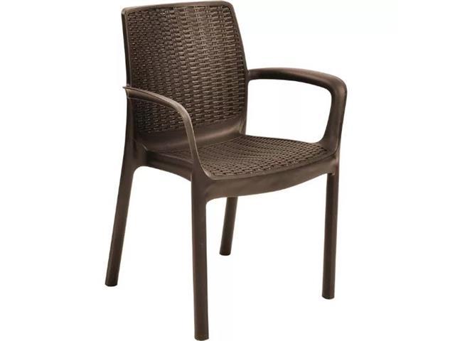 Cadeira Keter Bali Rattan I para Área Externa Marrom