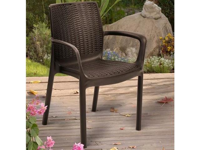 Cadeira Keter Bali Rattan I para Área Externa Marrom - 1