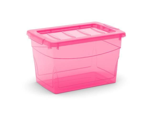 Caixa Organizadora Curver Omni Box Pink 16 Litros