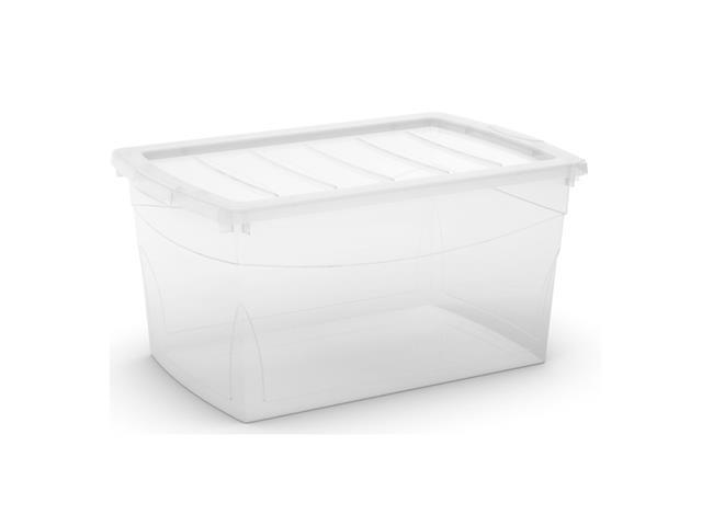 Caixa Organizadora Curver Omni Box Transparent 50 Litros