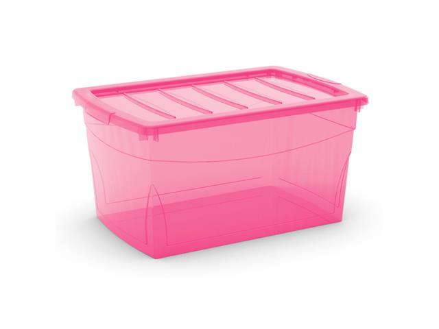 Caixa Organizadora Curver Omni Box Pink 50 Litros