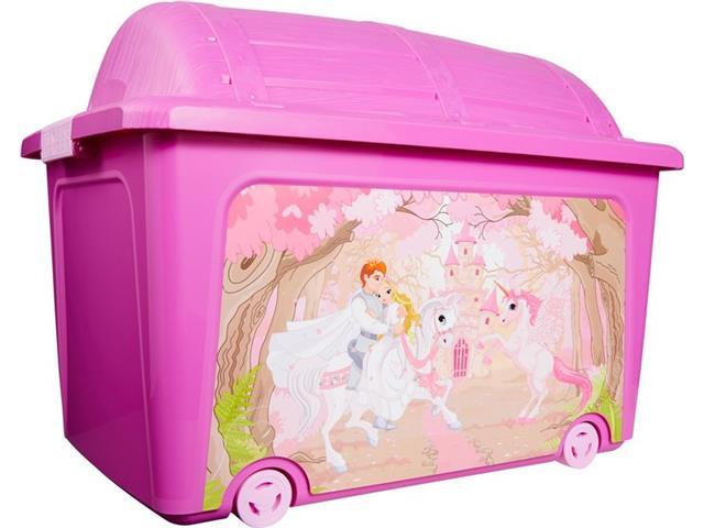 Caixa Organizadora Curver Princesa Pink 50 Litros