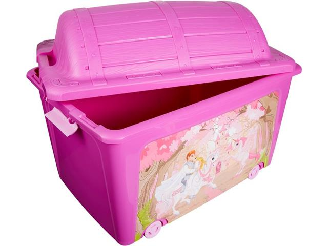 Caixa Organizadora Curver Princesa Pink 50 Litros - 1