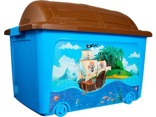Caixa Organizadora Curver Pirata Blue 50 Litros