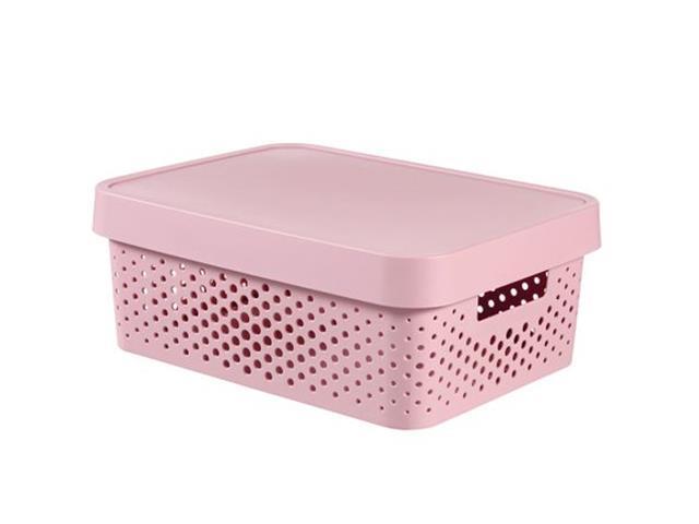 Cesto Organizador Curver Modular Infinity Pink 11 Litros