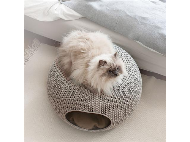 Cama Puff Curver Cozy Pet Knit Sandy com Almofada - 3