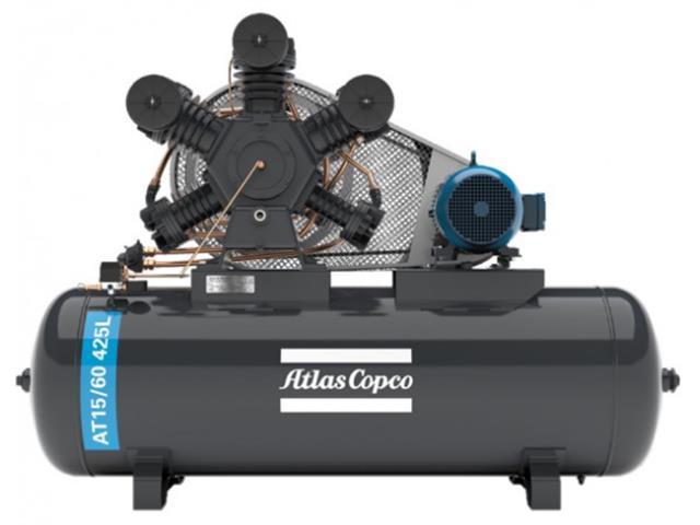 Compressor Pistão AT15/60 425L 220/380V 3F IP55 60HZ 175PSI W