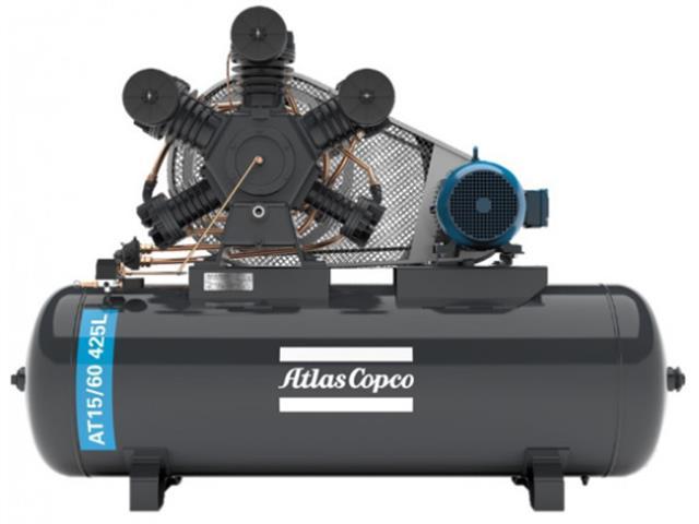 Compressor Pistão AT15/60 425L 380/660V 3F IP55 60HZ 175PSI W