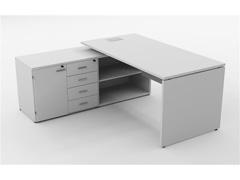 Mesa Gerencial Painel 170X160  Branca Esquerda - 0