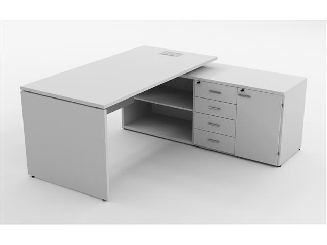 Mesa Gerencial Painel 190X160  Branca Direita