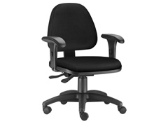 Cadeira Sky Operacional Preta Rodízio Piso Duro - 0