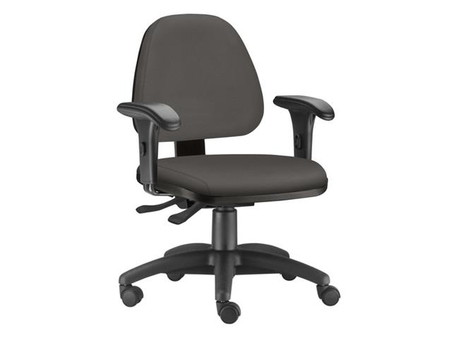 Cadeira Sky Operacional Cinza Rodízio Piso Duro