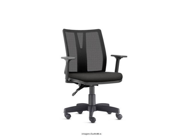 Cadeira Addit Operacional Preta Rodízio Carpete