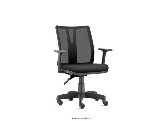 Cadeira Addit Operacional Preta Rodízio Piso Duro