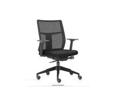 Cadeira Time Diretor Assento Preto Rodízio Carpete