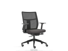 Cadeira Time Diretor Assento Cinza Rodízio Carpete - 0