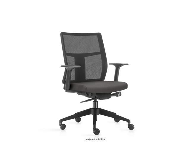 Cadeira Time Diretor Assento Cinza Rodízio Piso Duro
