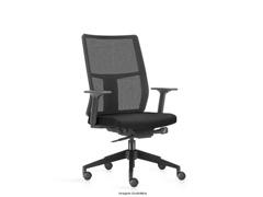 Cadeira Time Presidente Assento Preto Rodízio Carpete - 0