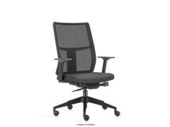 Cadeira Time Presidente Assento Cinza Rodízio Piso Duro - 0