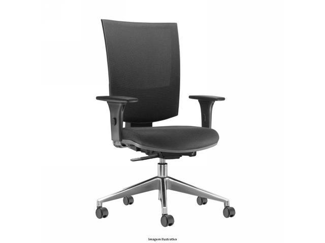 Cadeira Grand Preta Rodízios Carpete