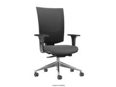 Cadeira Grand Cinza Rodízios Carpete - 0