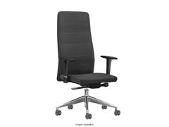 Cadeira Quadry Cinza Rodízios Piso Duro - 0