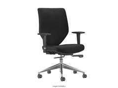 Cadeira Andy Presidente Preta Rodízio Carpete - 0