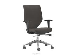 Cadeira Andy Presidente Cinza Rodízio Piso Duro