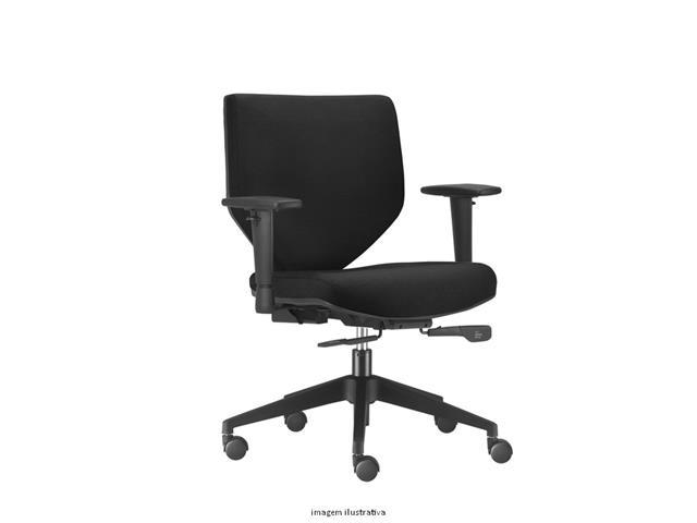 Cadeira Andy Diretor Preta Rodízio Carpete