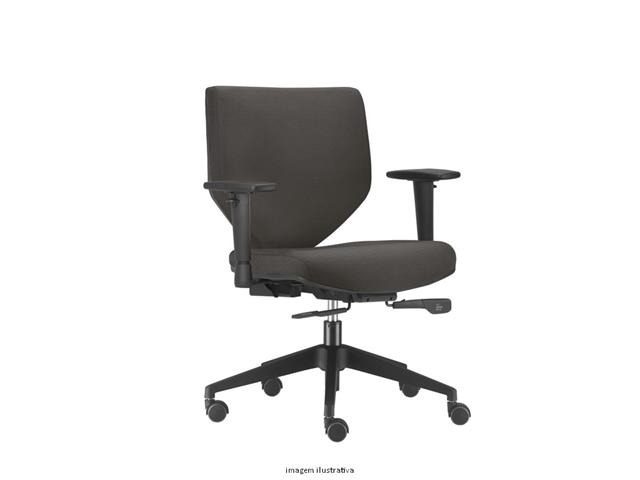 Cadeira Andy Diretor Cinza Rodízio Piso Duro