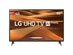 "Smart TV LED 49"" LG UHD 4K ThinQ AI TV HDR webOS 4.5 Wi-Fi 3HDMI 2USB - 0"