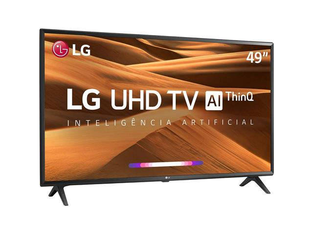 "Smart TV LED 49"" LG UHD 4K ThinQ AI TV HDR webOS 4.5 Wi-Fi 3HDMI 2USB - 1"
