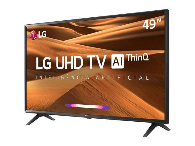 "Smart TV LED 49"" LG UHD 4K ThinQ AI TV HDR webOS 4.5 Wi-Fi 3HDMI 2USB - 3"