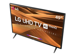 "Smart TV LED 49"" LG UHD 4K ThinQ AI TV HDR webOS 4.5 Wi-Fi 3HDMI 2USB - 4"